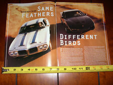 1969 PONTIAC TRANS AM  vs. 1991 TRANS AM GTA - ORIGINAL 1991 ARTICLE
