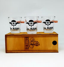 New Real Embedded Bullet Shot Glass with the emblem of the Russian airborne VDV.