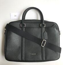 Coach * Men's Bag F59057 BLK Crossgrain Black Leather Slim Briefcase
