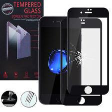 """2 Films Verre Trempe Protecteur Protection NOIR pour Apple iPhone 7 4.7"""""""