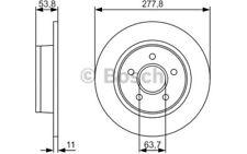 2x BOSCH Discos de Freno Traseros 277,8mm Para FORD TOURNEO 0 986 479 S51