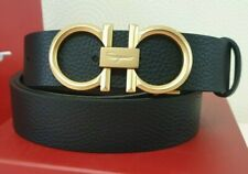 Salvatore Ferragamo  black belt with golden tone Gancini buckle