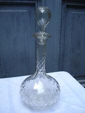 Karaffe Kristall Frankreich Olivenschliff toll beschliffen um 1890 ca. 0,6 Liter