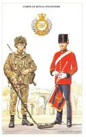 Postcard The British Army Series No.19 Corps of Royal Engineers by Geoff White
