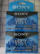 Sony Premium VHS-C 30 min. SP or 30 min. EP Camcorder Blank Tapes 4 tape NEW