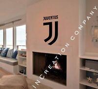 Juventus Italy Wall Decal Vinyl Sticker Decor mural graphics FC soccer gift logo