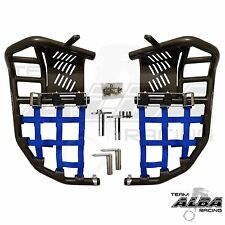 Yamaha Raptor 700  Nerf Bars Pro Peg Heel Guard  Alba Racing  Black Blue 197T7BL