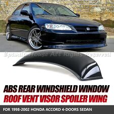 MADE FOR 98-02 HONDA ACCORD SEDAN 1PC REAR WINDOW SPOILER SUN GUARD SMOKED VISOR