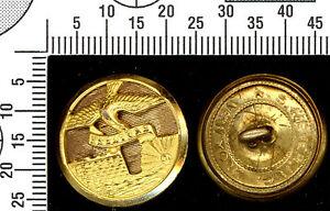 Bouton génie fédérale USA / USA Federal engineer button. Dorée