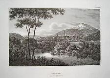 Coburg Bayern Franken  seltener echter alter Stahlstich 1840