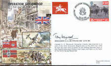 JS50 44/6 WWII WW2 Battle for Caen RAF Cover signed Grenadier Guard HEYWOOD MC