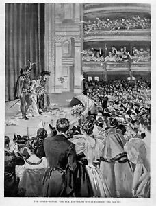 OPERA HOUSE BEFORE THE CURTAIN COSTUMES STAGE ORCHESTRA AUDIENCE THEATRE OPERA