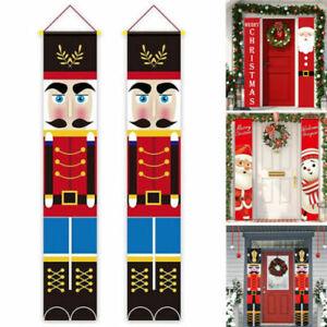 Christmas Banner Christmas Hanging Sign For Indoor Outdoor Door Decorations UK