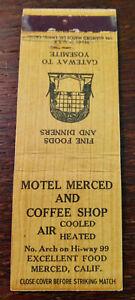 Vintage Matchcover: Hotel Merced & Coffee Shop, Merced, CA  54