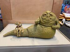 Vintage 1983 Kenner Star Wars Jabba the Hutt Playset Figure Lot Near Complete HK