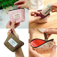 Lady Small Canvas Purse Zip Wallet Coin Key Holder Case Bag Handbag Convenient
