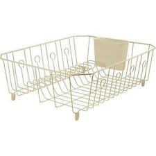 Rubbermaid FG6032ARBISQU Antimicrobial In-Sink Dish Drainer Large, Bisque Finish