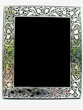 More details for super large finest 999 quality hallmarked silver london & britannia photo frame.