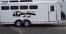23x76 Horses & Mountains Horse Trailer Truck Rv Camper Decal Stickers 23x76
