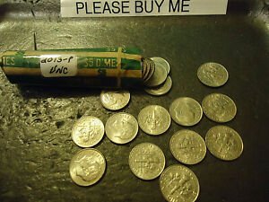 2013-P ROLL OF UNCIRCULATED DIMES             C/S AVAILABLE