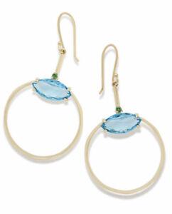 NWT Ippolita 18k Prisma Marquise Frontal Hoop Earrings $1995.00