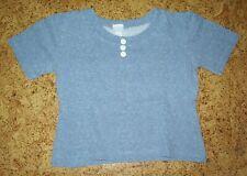 T-Shirt blau mit kleinen weißen Punkten von Ding Dong Größe 140