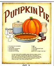 "PUMPKIN PIE RECIPE Kitchen Decor Unframed Poster Print U Frame 8X10"""