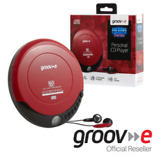 More details for groov-e retro series personal portable cd player walkman - red  - gvps110/rd