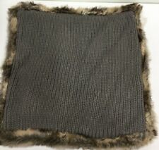 Cushion Sham Sweater Knit Fur Pillow 20x20 Inches
