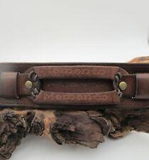 Memento Mori Pirate engraved leather cuff, bracelet, wristband.  7.5 to 8.5 long