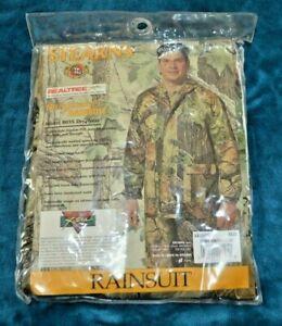 Stearns XXL PVC Rainsuit  100% Waterproof Camouflage Realtree Durable