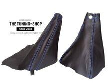 For Subaru Impreza WRX 07-12 Gear & Handbrake Boot Black Leather Blue Stitching