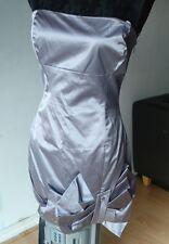KAREN MILLEN WOMENS DRESS SILVER GREY A-LINE SHEATH STRAPLESS SIZE UK 12 EU 40