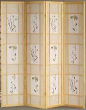 Beau 4 U0026 3 Panel Wood Shoji Screen Room Divider Flowered Design