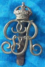 VINTAGE Norfolk Yeomanry Cap Badge KC GV all BRASS Slider Genuine*