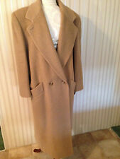 JNY Jones New York Tan Double Breasted Womens Wool Long Over Coat