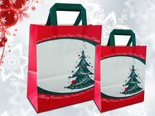 20 pz Borse shopper carta Natale Buste sacchetti Natalizi Busta in carta regalo