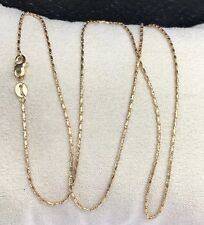 "18k Solid Yellow Gold Small Link Shiny Chain/Necklace 16"". 2.50 Grams"
