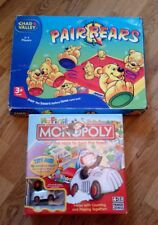 2 BOARD GAMES MY FIRST ELECTRONIC MONOPOLY & PAIR BEARS BOTH COMPLETE PRESCHOOL
