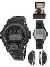 New All Black G-Shock Digital Men's Simulated Diamond Watch Joe Rodeo Jojino Kc