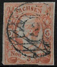AD SACHSEN 1856; MiNr. 12 b ; 5 Ngr.; aktueller BPP BEFUND; N2