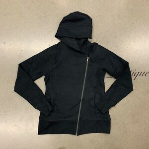 NWT New Nike CU5321-010 Women's Yoga Full Zip Hoodie Sportswear Top Black Size M