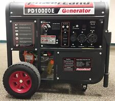 Upgraded-PowerLand PD10000E 10KW 16HP Gas Generator Electric Start