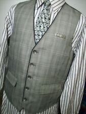 Guess Men'S Plaid Gray And Burgundy Casual Dress And Suit Vest Sz (L)