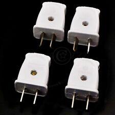 4x Adjustable 2Pin 250V/10A AU/US Plug Rewirable Power Cord Connector DIY Unit