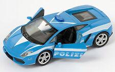 BLITZ VERSAND Lamborghini Gallardo LP 560-4 Polizia Welly Modell Auto 1:34 NEU