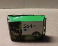 HP 564XL Cyan Ink Cartridge CB323WN Genuine exp MAR 2014