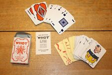 VINTAGE CARD GAMES - WHOT AND GRANFATHERS WHISKERS GAMES