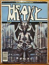 Heavy Metal magazine June 1980 + H.R. Giger + key