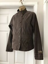 Ladies North Face Cotton Spring Summer Jacket Size Small In Brown